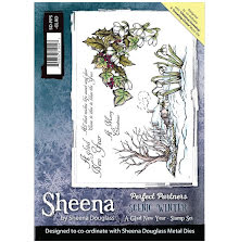 Sheena Douglass Scenic Winter Stamp A5 - A Glad New Year UTGÅENDE