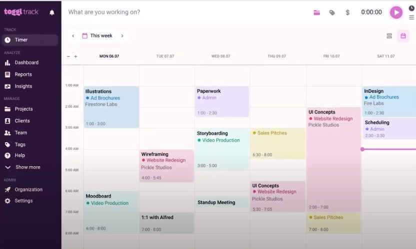 Toggl app for time tracking and time management
