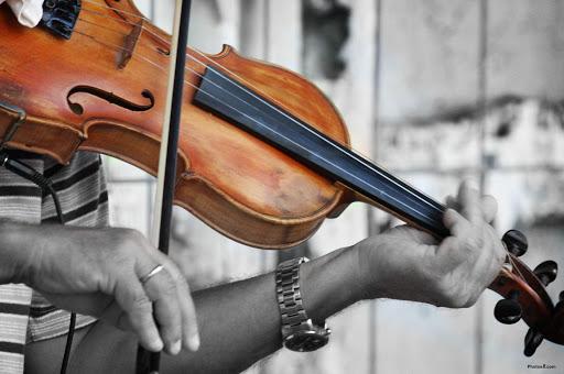 バイオリンのレッスン