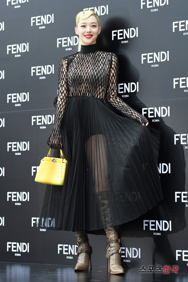 sulli seethrough dress 5