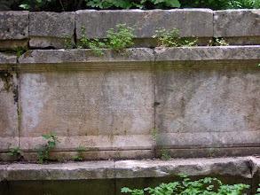 Photo: Mausoleum, known as Lyciarch Grave. Inscription ********** Mausoleum, beter bekend als het Lyciarchis Graf. Inscriptie.