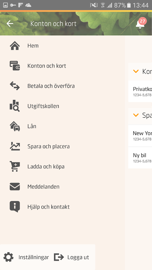 Swedbank private- screenshot