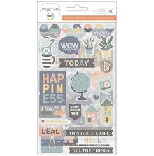 Project Life Chipboard Stickers - Daring