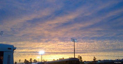 Photo: October 27, 2012 - State Finals Sunset #creative366project curated by +Jeff Matsuya and +Takahiro Yamamoto #under5k +Creative 366 Project  After a cloudy afternoon, there was finally some golden sunshine right before sunset at the South Carolina 4A State Marching Band Championship. The Northwestern Purple Regiment placed 3rd overall.