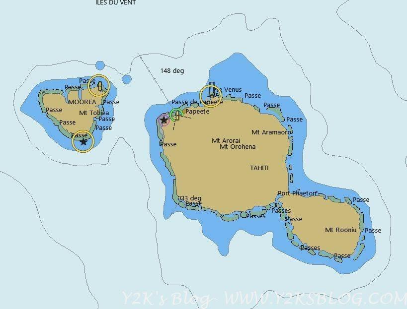 Tahiti - Mappa