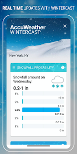 AccuWeather Winter weather alerts & forecast radar Screenshot