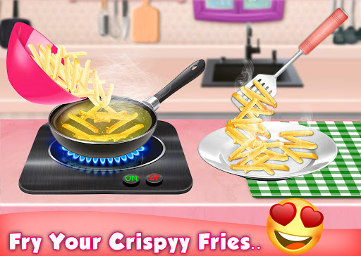 Code Triche Crispy French Fries Recipe - Top Chef Cooking Game apk mod screenshots 4