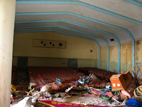 Photo: creepy abandoned theatre at old school