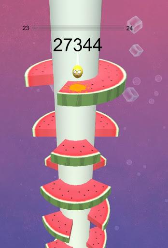 Fruit Helix Crush Game : Ball Helix Jump Game apktram screenshots 3