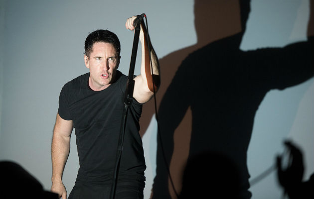Trent Reznor during a live performance.