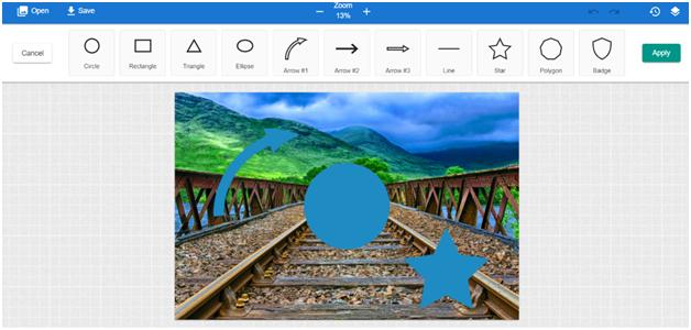 Canvas prints photo editor add shape menu