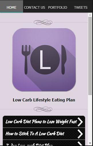 計画を食べる低炭水化物ライフスタイル