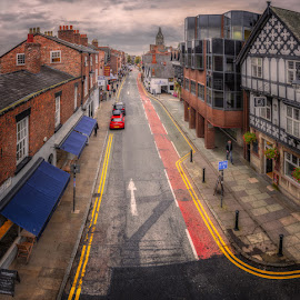 North Gate Street, Cheater by Krasimir Lazarov - City,  Street & Park  Street Scenes ( city scape, wales, street, chester county, street scene, united kingdom, city )