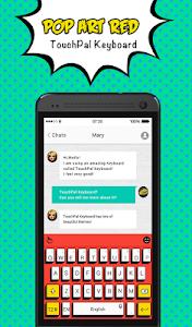 TouchPal Pop Art Red Theme screenshot 0