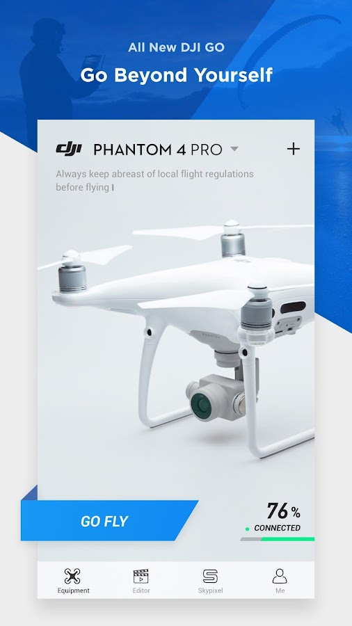 DJI GO 4--For drones since P4- screenshot