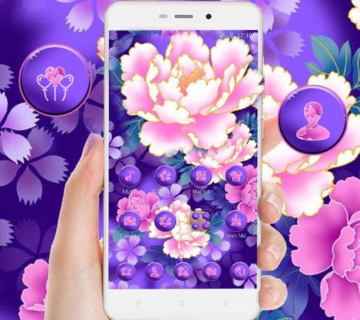 Bloom Purple Pretty Flower Theme cheat hacks
