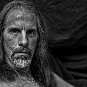 Selfie by Todd Yoder - Black & White Portraits & People ( selfie, b&w, lighting, male, backdrop )