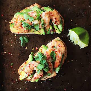 Avocado Shrimp Toast.