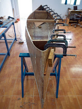Photo: fitting the port outer gunwale