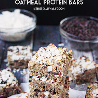 Chocolate Cranberry Oatmeal Protein Bars.