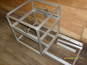 Photo: 600x25mm frame with some of the motion parts and an old 500mmx1inch frame
