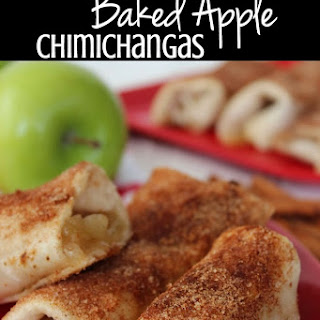 Baked Apple Chimichangas