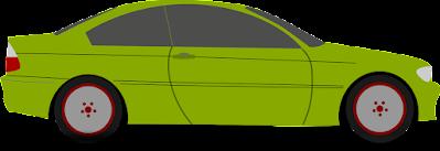 [Descripción de la imagen: ilustración de un coche pequeño y verde, con su sombra debajo.]
