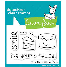 Lawn Fawn Clear Stamps 3X2 - Year 3