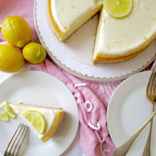 Lemon Cheesecake with Sour Cream Topping.