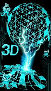 3D Dynamic Hologram Projection Launcher Theme - náhled