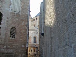 Photo: Heading towards the Dormition Abbey on Mount Zion.