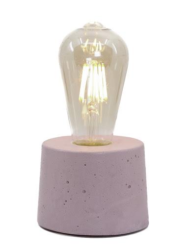 lampe béton design rose pastel