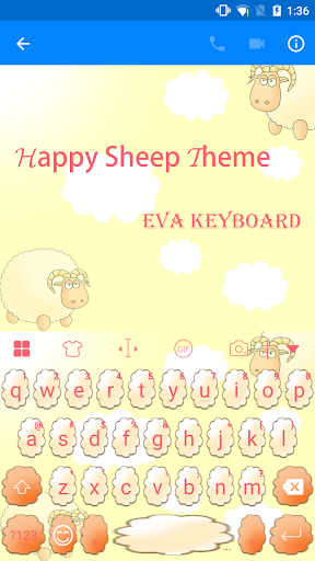 Sheep Eva Keyboard -Diy Gif