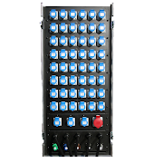 48Way Cee-form Dimmer Rack rear