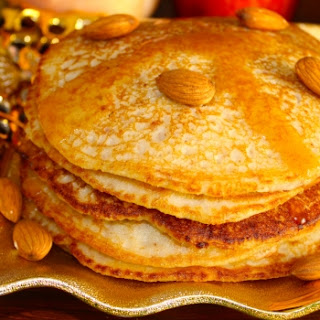 Almond Pancakes with Date Syrup Reduction (Eggless) Recipe