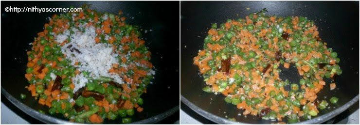simple and easy carrot beans poriyal
