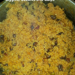 Traditional Puerto Rican Rice Recipe Arroz con Gandules.