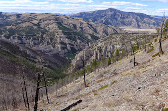 Photo: The way down to the mouth of Meriwether Canyon - Sleeping Giant in upper right