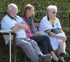 Photo: Brian asleep next to Gail!