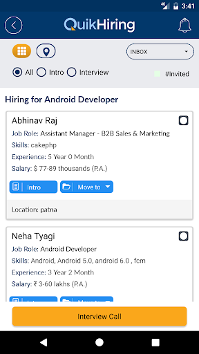 download quikhiring job search video cv apk full
