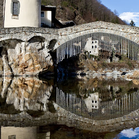 Ponte riflesso by Federica Violin - Buildings & Architecture Bridges & Suspended Structures ( water, reflection, bridge )