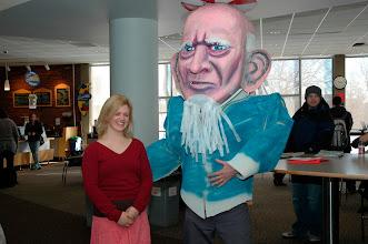 Photo: Anna Baker meets Uncle Sam!