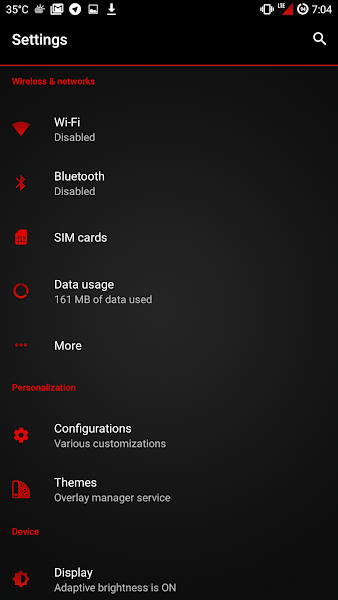 [Substratum] Neon Red Theme v1.1 [Patched]