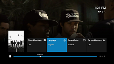 Set language preferences on Google Fiber TV
