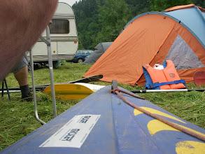 Photo: widok obozowiska okiem łódeczki ;-)