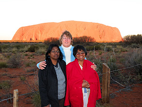 Photo: Nyanam, Sherna and Easuary at Sunset.