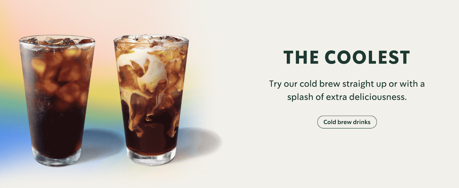 2 delicious cold brew coffees with a light and colorful background.