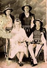 Photo: Rozalia i Władysław Mrożek , Ścisłowicz Józef Protek, Kwak Jan - lata 40 -te.