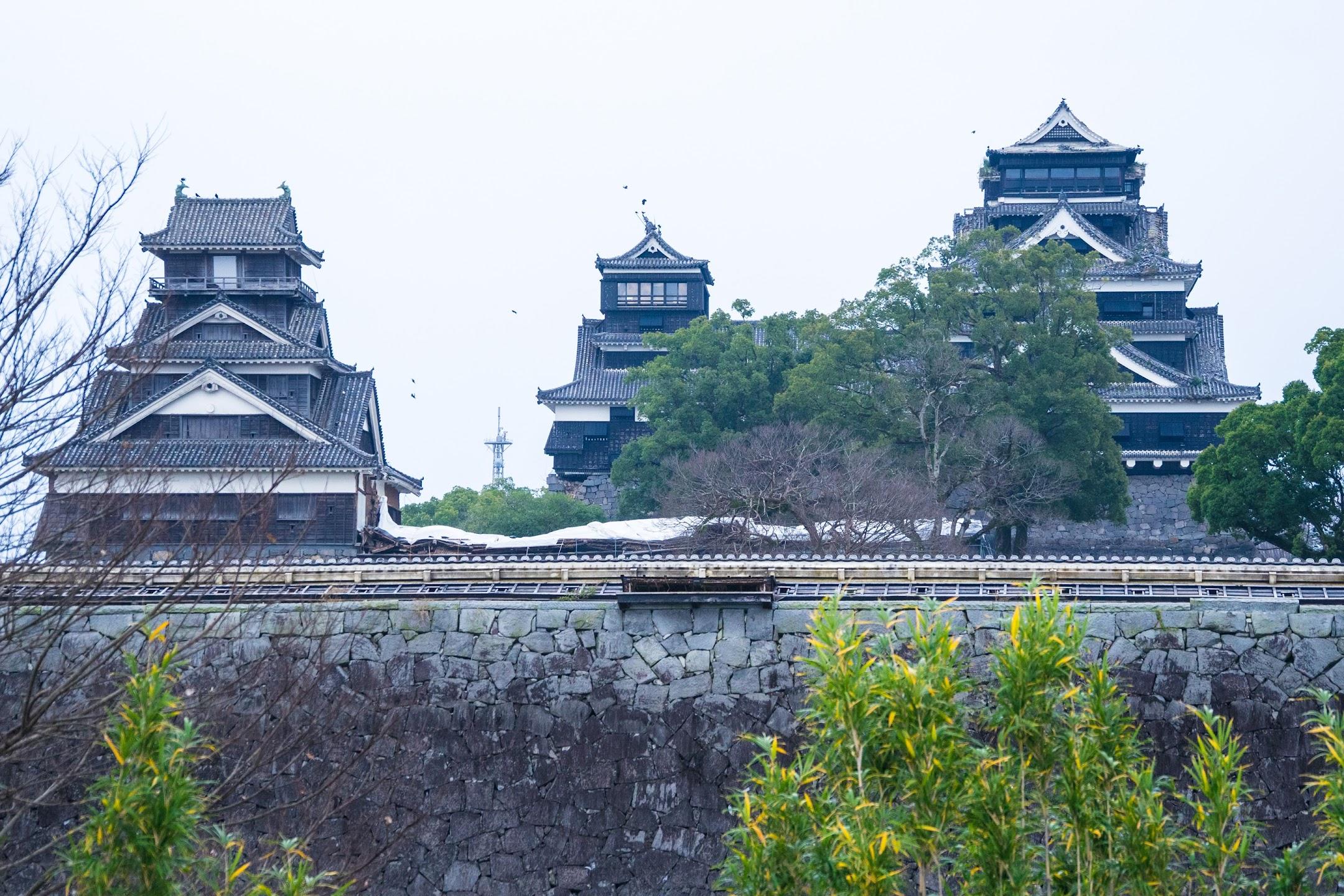熊本城 二の丸広場 大天守・小天守・宇土櫓1