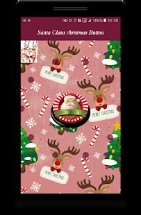 Santa Claus christmas Button - náhled